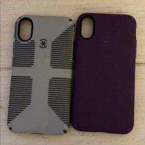 2 iPhone X speck cases